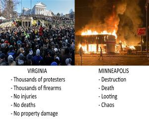 2 Different Protests