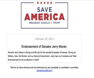 Jerry Moran Endorsement