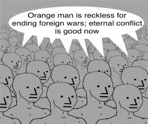 Image result for orange man bad meme