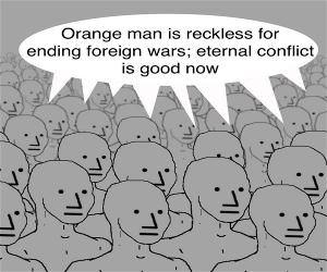 Image result for orange man bad meme