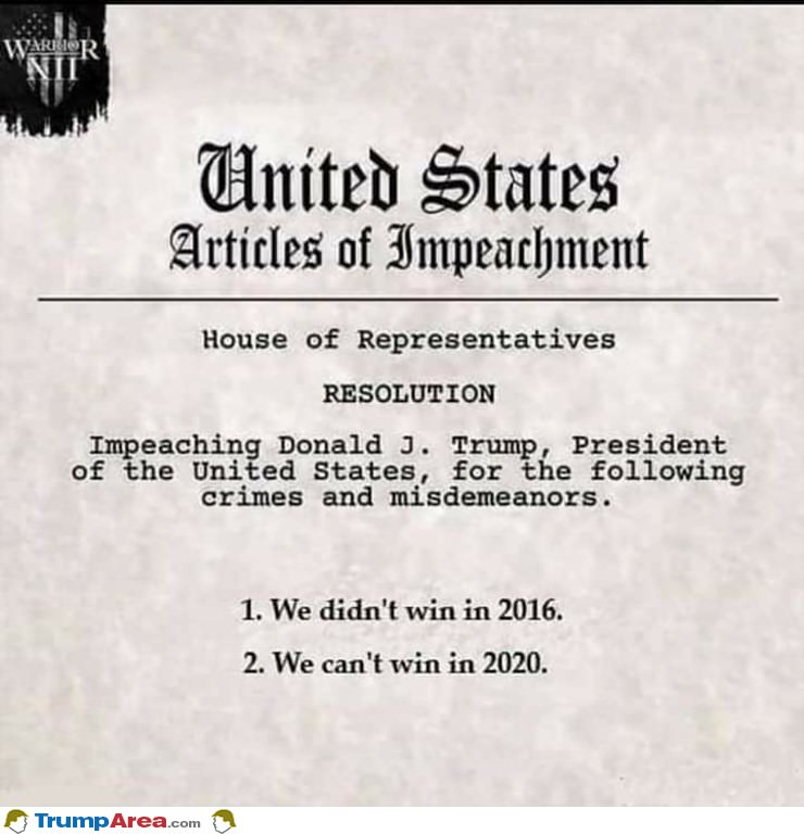 Articles Of Impeachment Released