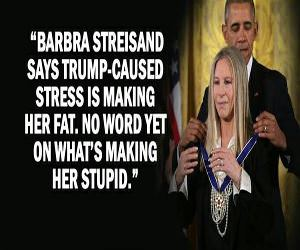 Barbara Streisand Is Getting Fat