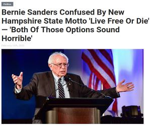 Bernie Is Confused