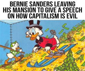 Bernie Leaving His Mansion