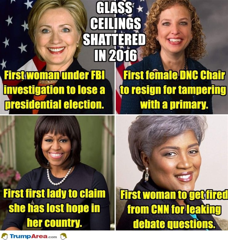Glass Ceilings Shattered In 2016
