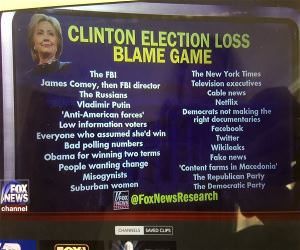 Hillary Election Blame Game