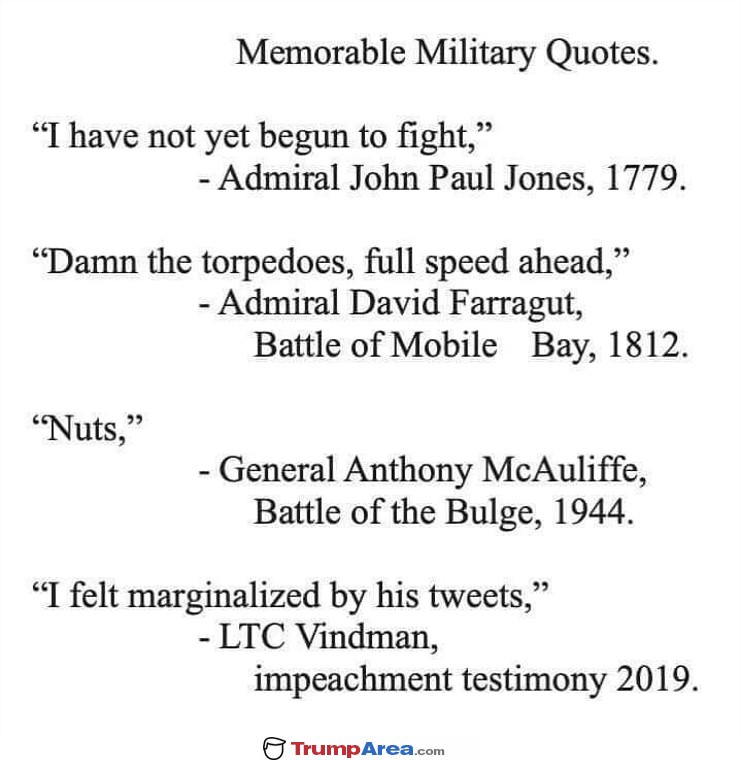 Memorable Military Quotes