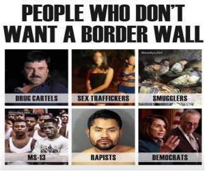 People Who Do Not Want A Border Wall
