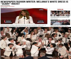 Scary Racist White Dress