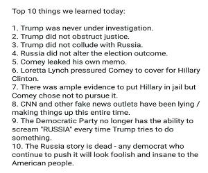 Some Things We Learned