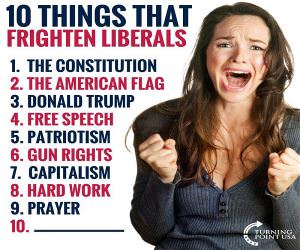 Things That Frighten Liberals