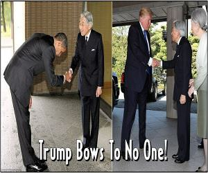 Trump Bows To No One