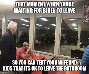 Waiting For Biden To Leave