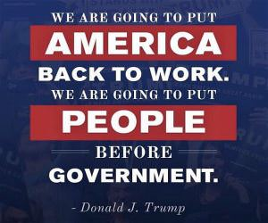 We Are Going To Be America Back To Work