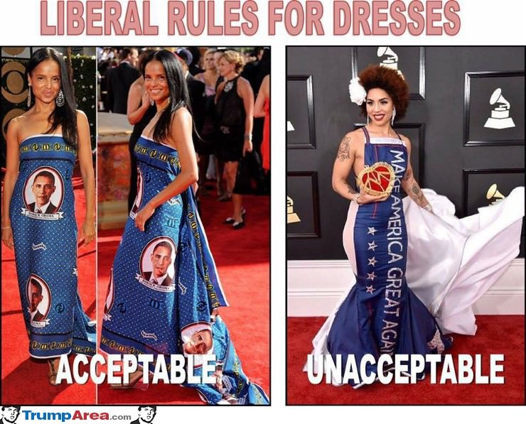 What Is And Is Not Acceptable To Liberals