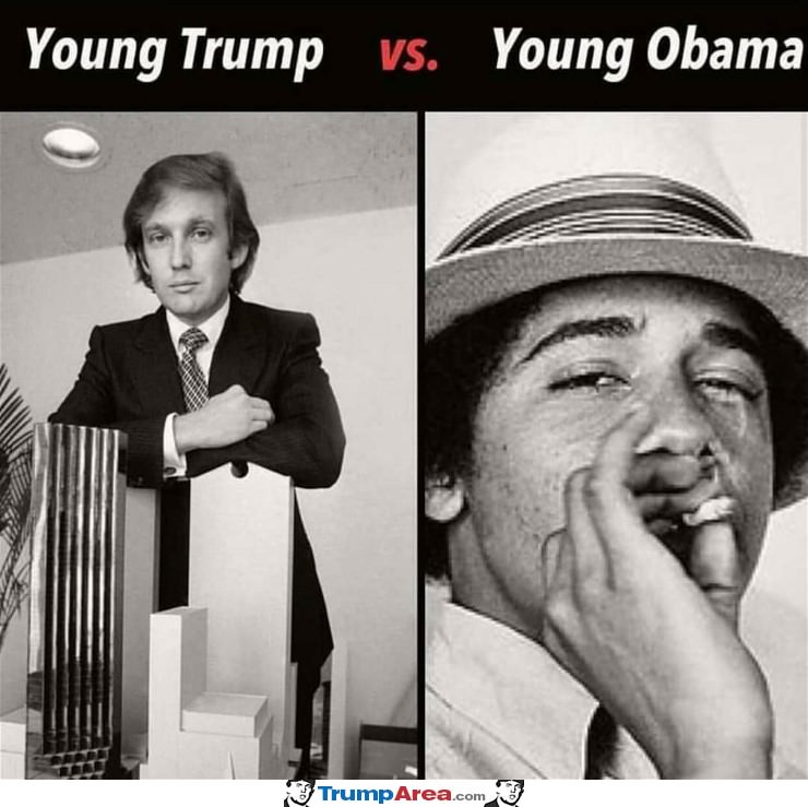 Young Trump Vs Young Obama